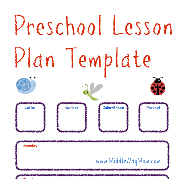 LessonPlanTemplatepng - Lesson plan template for preschool teachers