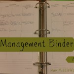 Home Management Binder - a Walk Through - www.MiddleWayMom.com