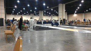 Just part of the tournament space. It was very big!