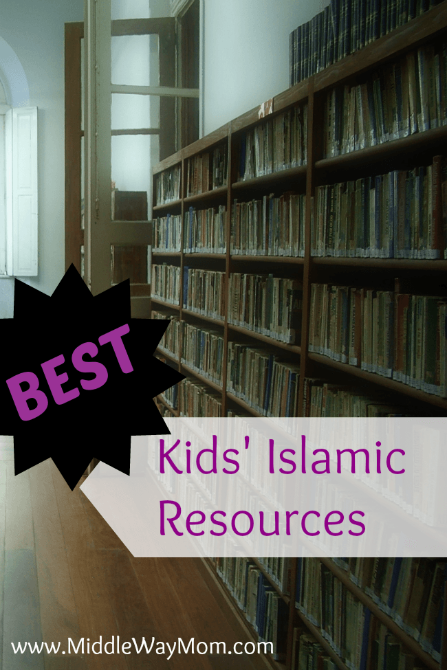 It can be hard to find high quality Islamic resources for kids. Here's a great list to get your kids' Islamic library started! - www.MiddleWayMom.com