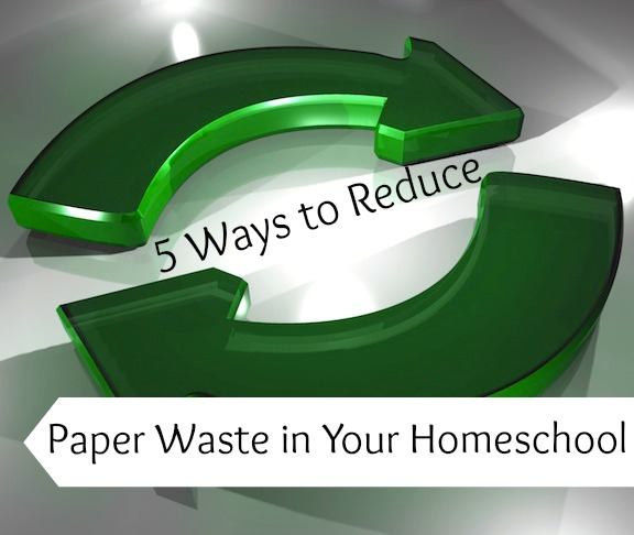 Don't let your homeschool be wasteful! Reduce the paper you use to save both time and trees. - www.MiddleWayMom.com
