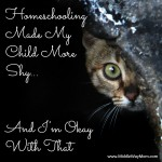 Homeschooling Made My Child More Shy... And I'm Okay With That