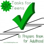 50+ Tasks for Teenagers to Prepare them for Adulthood - www.MiddleWayMom.com