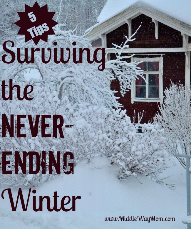 5 Tips for Surviving the Never-Ending Winter - www.MiddleWayMom.com