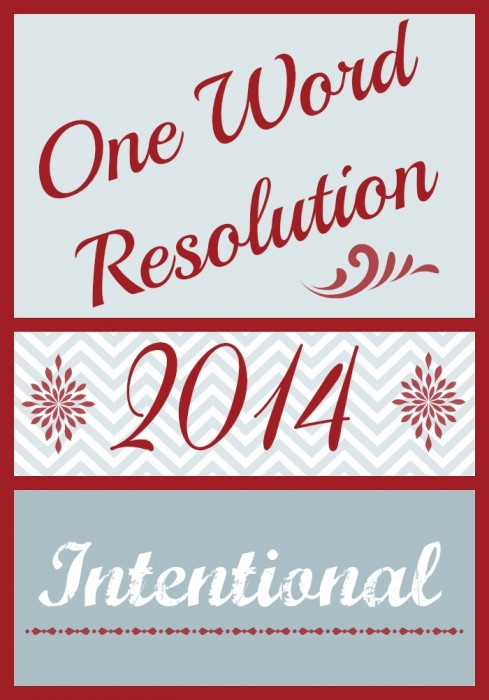 2014 One Word Resolution - www.MiddleWayMom.com