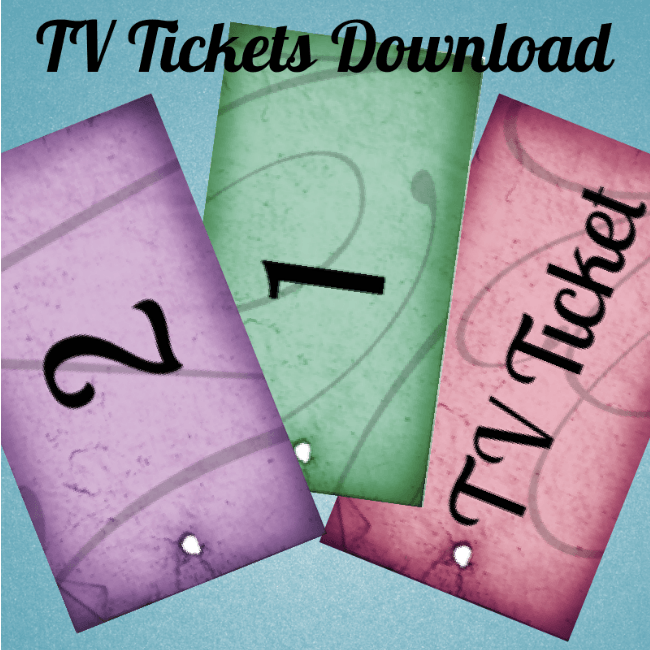 Screen Time Sanity with TV Tickets {Printable} - www.MiddleWayMom.com