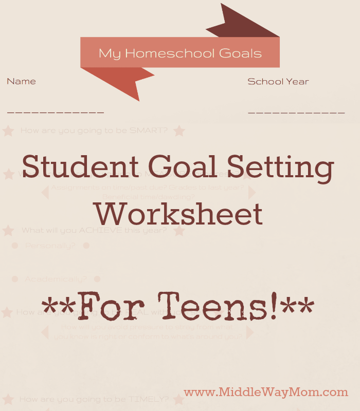 Student Goal Setting Worksheet For Teens – Student Goal Setting Worksheet