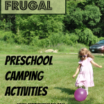 You don't have to pack a ton of stuff to bring a preschooler on a camping trip! Try out these easy preschool camping activities to ward off boredom when you're away from home! - www.MiddleWayMom.com