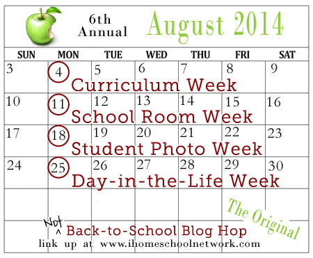 NOT Back to School Blog Hop - Curriculum Week!