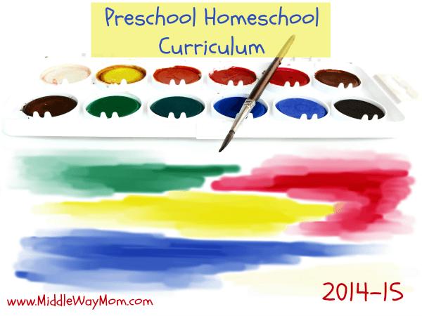 Preschool Homeschool Curriculum - www.MiddleWayMom.com
