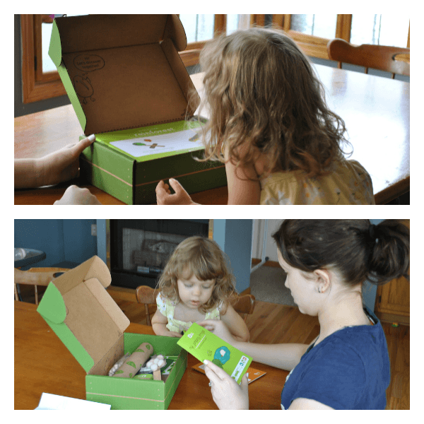 The kids are opening the new kids craft crate!