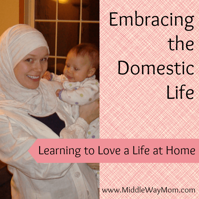 Becoming a Stay at Home Mom doesn't feel natural or come easy to everyone, but sometimes you know it's best for your family. Join me as I learn to embrace the domestic life and love a life at home.  - www.MiddleWayMom.com