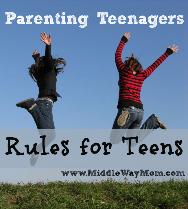 Parenting teenagers has been a question for generations. How much freedom do you allow a teen?  Here are our rules, and why.  - www.MiddleWayMom.com