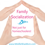 Family socialization is as important, if not more so, than peer socialization. Generations crossing more than at holidays plays an integral part to passing down wisdom and traditions. - www.MiddleWayMom.com