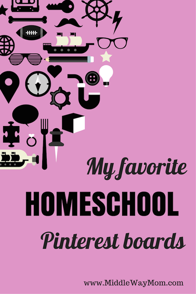 Looking for some new Pinterest boards to follow in for your homeschool? From preschool to high school, I have some favorites for you!