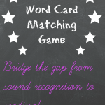 Word Card Matching Phonics Game