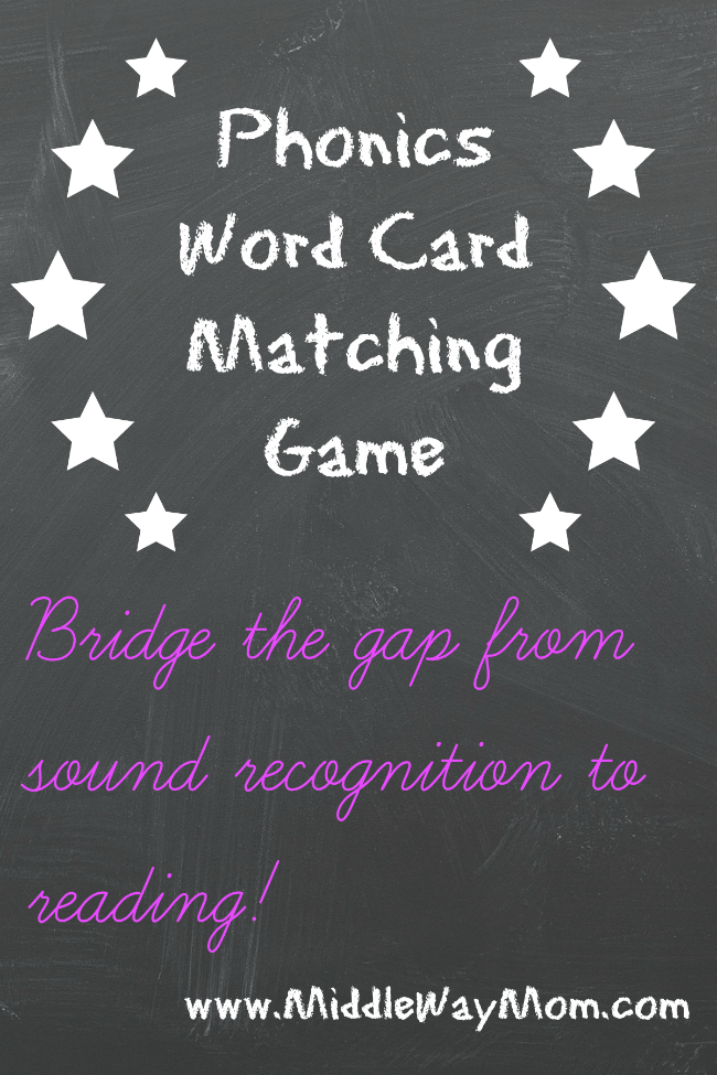 Help your child succeed in learning to read with these phonics word cards! Match the word to the picture in a fun phonics game, bridging the gap from sounding out words and reading.