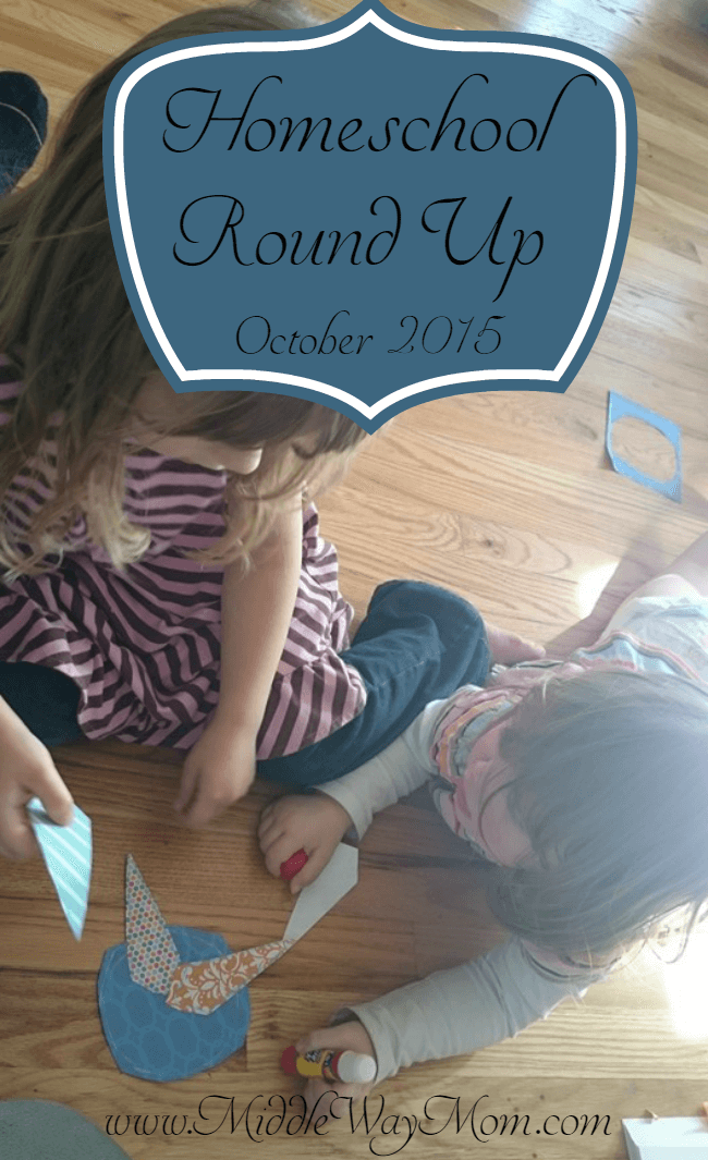 October Homeschool Round Up - Totschool to college with homeschool resources listed!