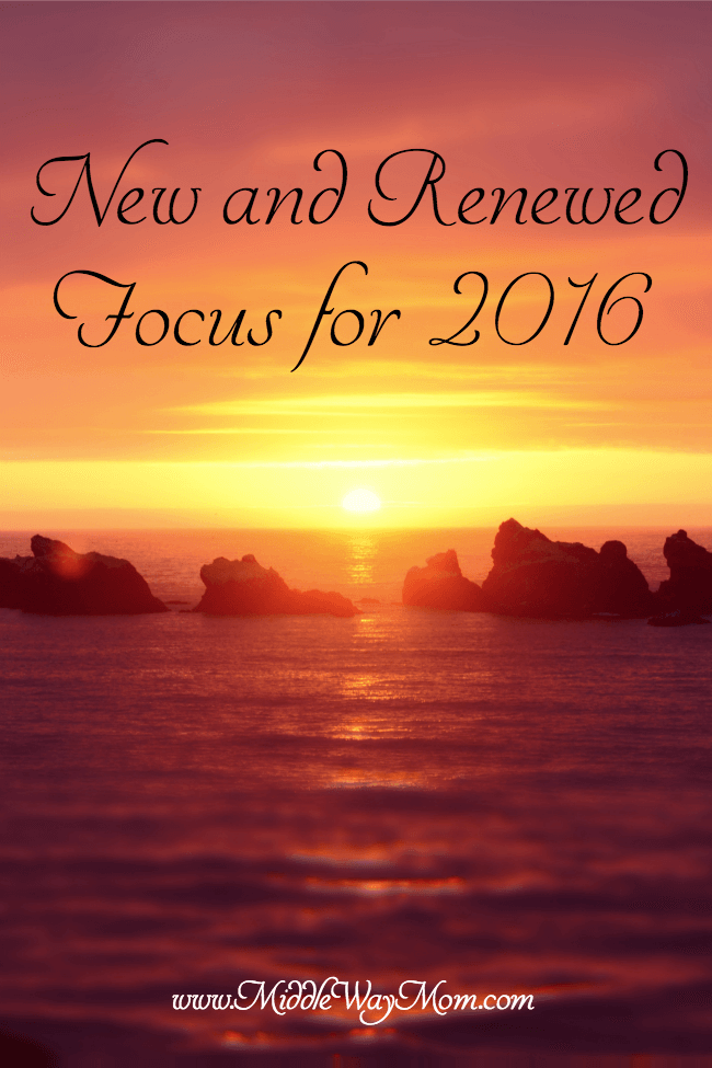 New and renewed focus for 2016