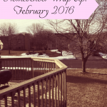 Tree tapping, book work, and DIY homemaking - all in our homeschool wrap-up for Feb 2016!