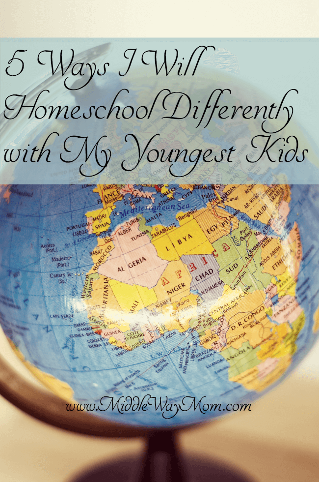 5 Ways I will Homeschool Differently with My Youngest Kids