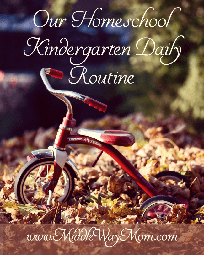 A day in the life of homeschooling Kindergarten