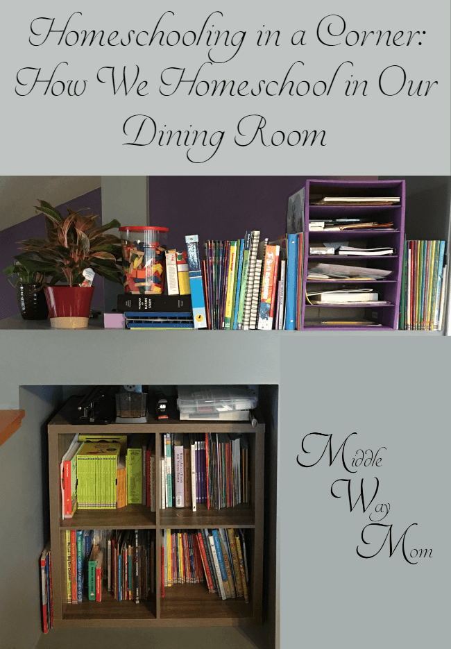 Don't have a homeschool room? Neither do we! How we homeschool in our dining room.
