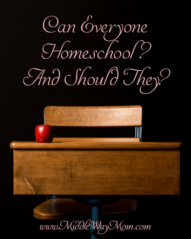Can everyone homeschool? And if they can, is it the best option? What if you're not patient enough? Or smart enough?