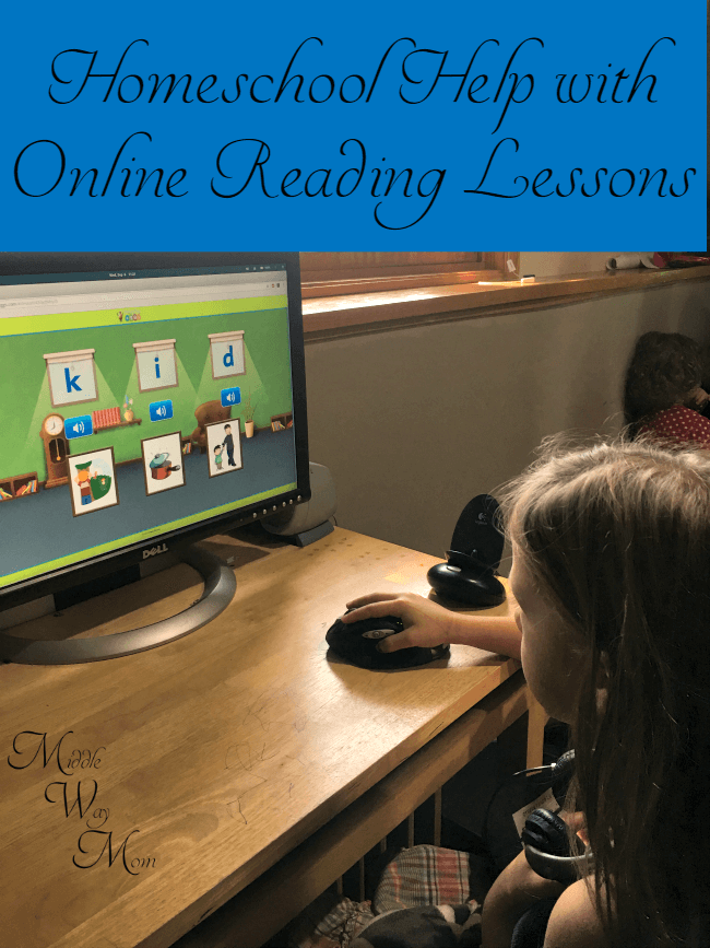 Homeschool help with online reading lessons! Easy and great for busy families!