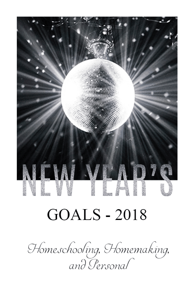 It's that time of year to make new goals! My goals are simple, but span the different areas of my life. What are yours?