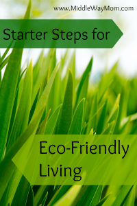Want to reduce waste or emissions from your home, but don't know where to start? Get started with these simple steps! - www.MiddleWayMom.com