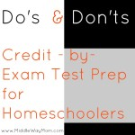 Do's & Don'ts of CBE Test Prep for Homeschoolers - www.MiddleWayMom.com