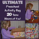 The Ultimate Preschool Activity Bag - 20 Items, Hours of Fun! www.MiddleWayMom.com
