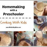 Cooking with kids can be fun and educational! Try this pancake recipe out, with step by step instruction! - www.MiddleWayMom.com