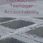 Independent learning is the goal, but how do we build the foundation for our homeschooled high schoolers to get there, and be successful? One step at a time, we need to build accountability for our homeschoolers. - www.MiddleWayMom.com