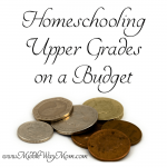 Homeschooling middle and high school can get expensive really fast! Here are some tips to keep your school costs within you budget