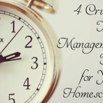 Crucial time management tips for every homeschool