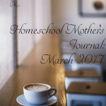 Homeschool mother's journal for the month!