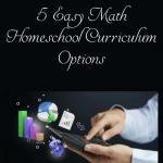 Budget friendly math homeschool curriculum options!